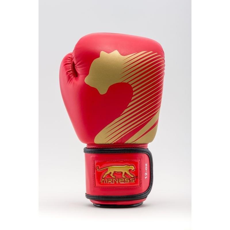 Airness Fury Gants entrainement pu Color Rouge-Or Size 8 OZ