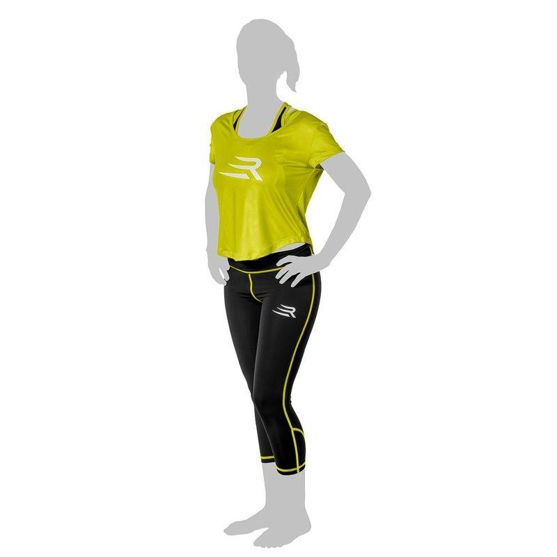 Rinkage Aura Tee shirt nylon Color Jaune Size S