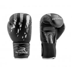 Rinkage Rise Gant de boxe enfant Color  Noir-Rouge Size 6 OZ
